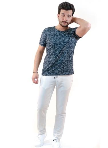 Boris Becker O Yaka Kısa Kol Karışık Desenli Erkek Tshirt Lacivert